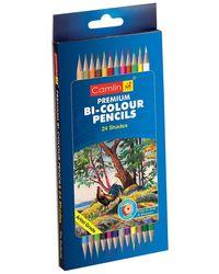 Camlin Kokuyo Premium Bi-Color Pencil - 24 Shades