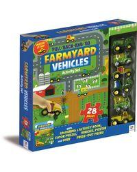 Pull Back And Go Farmyard Vehicles Activity Set, na