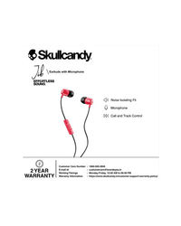 Skullcandy Jib Wired In-Earphone With Mic (Red/Black/Red)