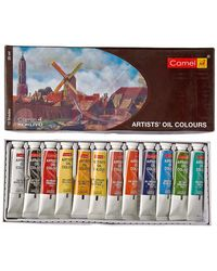 Camel Artist's Oil Color Box - 20ml Tubes, 12 Shades