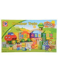 KIDS HOME TOYS Number Train Blocks Box