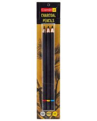 7000954 Charcoal Assorted Pencils (Pack Of 3)
