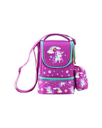 Fantasy Strap Lunch Bag Purple, purple