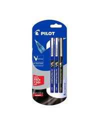 Pilot V7 Liquid Ink Roller Ball Pen (2 Blue+ 1 Black)