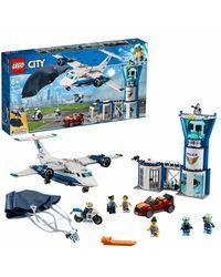 LEGO City Sky Police Air Base Building Blocks for Kids (529 Pcs) 60210