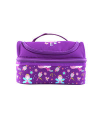 Smily Dual Slot Lunch Bag Purple