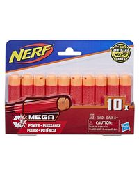 NERF Darts Nstrike Elite Mega 10 Dart Refill, Age 8+