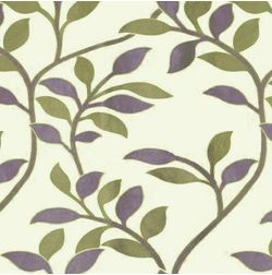 Romania Floral Curtain Fabric - 11, green, fabric