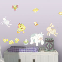 Wall Sticker For Kids Home Decor Line Animal Farm - 11101