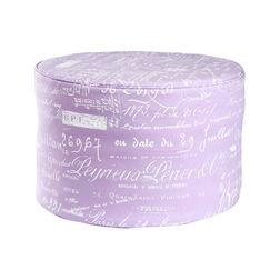Calligraphy Print Pouf -BB-49, purple