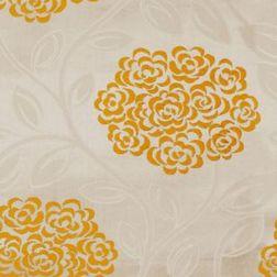 Jewel Floral Curtain Fabric - 17, yellow, sample