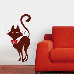 Wall Sticker For Kids Chipakk Cat Brown AN6AM