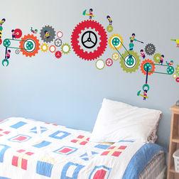 Children Wall Stickers Design Men at work WD012