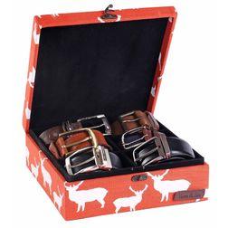 Deer Watch and Belt Organiser Box - HS130, orange