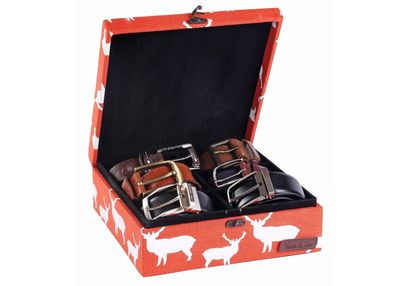 Deer Watch and Belt Organiser Box - HS130, orange