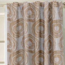 Ramkhao Geometric Readymade Curtain - 47, beige, window