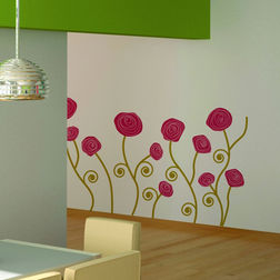 Wall Stickers Home Decor Line Roses - 82571