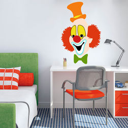 Kakshyaachitra Happy Joker Face Wall Kids Wall Stickers, 16 24 inches