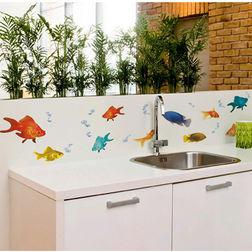 Children Wall Sticker Home Decor Line Fishes - 54253