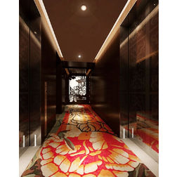 Floor Carpet and Rugs Hand Tufted AC Concept Floral Orange Carpets Online - CRD-21-L, 3ftx5ft, orange
