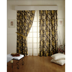 Rangshri Floral Readymade Curtain - 21, gold, window