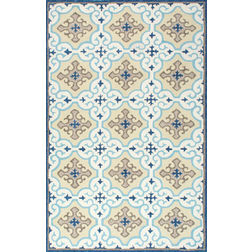 Floor Carpet and Rugs Hand Tufted, The Rug Concept Blue Carpets Online Tbilisi 6066-L, blue, 3ft x 5ft