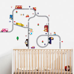 Kids Wall Stickers Design Smiley Happy Drivers WD008