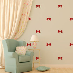 Kakshyaachitra Bow Tie Wall Stickers For Bedroom And Living Room, 20 24 inches