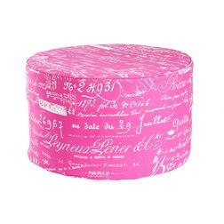 Calligraphy Print Pouf -BB-51, pink