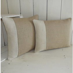 Linen Cushion Cover MYC-70, pack of 2, beige