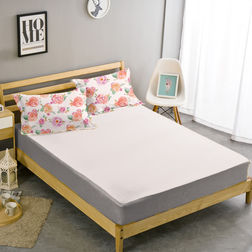Double Bed Sheet With Two Pillow Covers BS-14, double, white