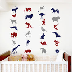 Wall Stickers For Kids Design Animal Alphabets WDV06001