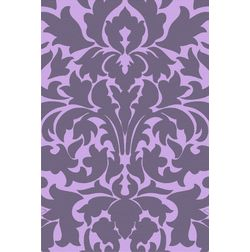 Floor Carpet and Rugs Hand Tufted, AC Concept Floral Purple Carpets Online - ACR (7) -L, purple, 3ftx5ft