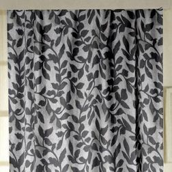 Constellation Floral Readymade Curtain - AL111, door, grey