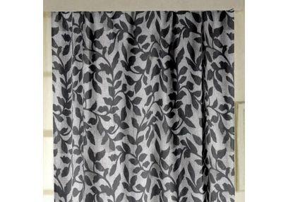 Constellation Floral Readymade Curtain - AL111, door, grey