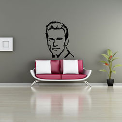 Kakshyaachitra Arnold Schwarzenegger Wall Stickers For Bedroom And Living Room, 24 31 inches