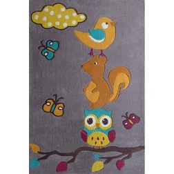 Floor Carpet and Rugs Hand Tufted, AC Concept Kids Purple Carpets Online - KD-25-L, 3ftx5ft, purple