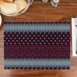 Printed Table Mats Set of 6, multi