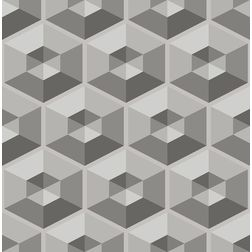 Elementto Geometric Design Modern 3D Wallpaper for Walls - td30500, black