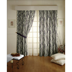 Raindrop Geometric Readymade Curtain - 41, door, purple