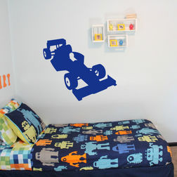 Kakshyaachitra The racing Car Kids Wall Stickers, 28 24 inches