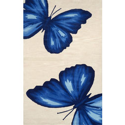 Floor Carpet and Rugs Hand Tufted, The Rug Concept Blue Carpets Online Tbilisi 6002-L, blue, 3ft x 5ft