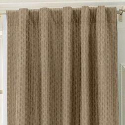 Lusture Geometric Readymade Curtain - RHO105, door, brown