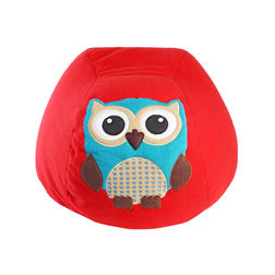 Owl Bean Bag Cover -BB35, red