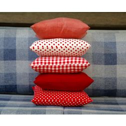 Shades of Red Cushion Cover MYC-36, pack of 5, red