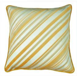 Dreamscape Striped Suede Beige Cushion Covers, beige