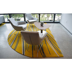 Floor Carpet and Rugs Hand Tufted AC ConceptAbstract Yellow Carpets Online - SC-91-L, 3ftx5ft, yellow
