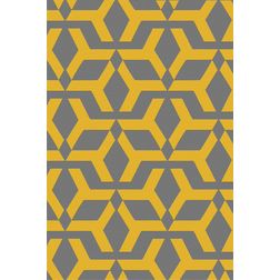Floor Carpet and Rugs Hand Tufted, AC Concept Geometric Grey Carpets Online - ACR (1) -L, grey, 3ftx5ft