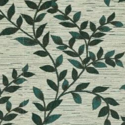 Raindrop Floral Curtain Fabric - 37, green, fabric
