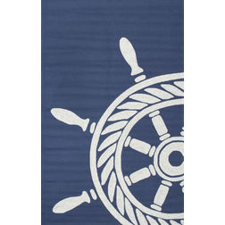 Floor Carpet and Rugs Hand Tufted, The Rug Concept Navy Carpets Online Tbilisi 6069-L, 3ft x 5ft, navy blue